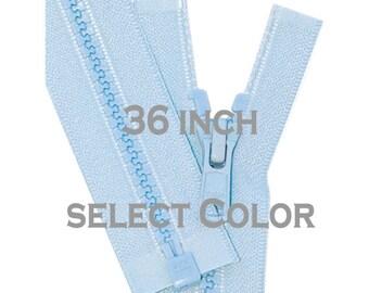 36 inch Vislon Jacket Zipper YKK 5 Molded Plastic Medium Weight - Separating - Select Color