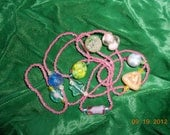 Vintage Bead LOT, Beaded Necklace, Bead supplies Glass Beads