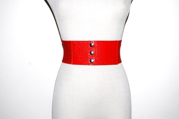 Vintage Red Wide Belt