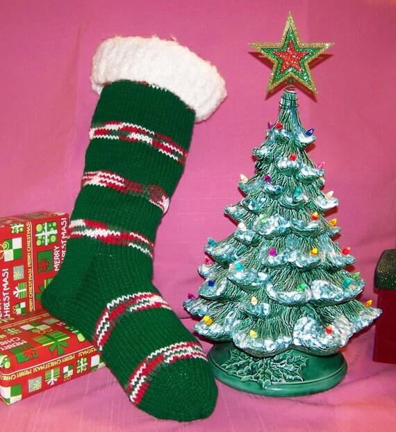 Christmas stocking beautiful handmade old fashioned by pbdoggy for Fashion christmas stockings