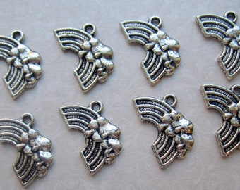 Tibetan Silver Rainbow Charms - Set of 12 - 20x12mm