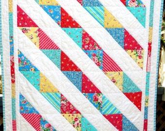 Handmade Bright Baby Quilt
