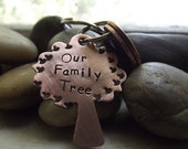 Tree Love  keychain with two pennies