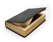 "Large Humor Hollow Book ""An Encyclopedia Of Modern American Humor"" Black Vintage Book Secret Stash Box Gift - CUSTOM ORDER"