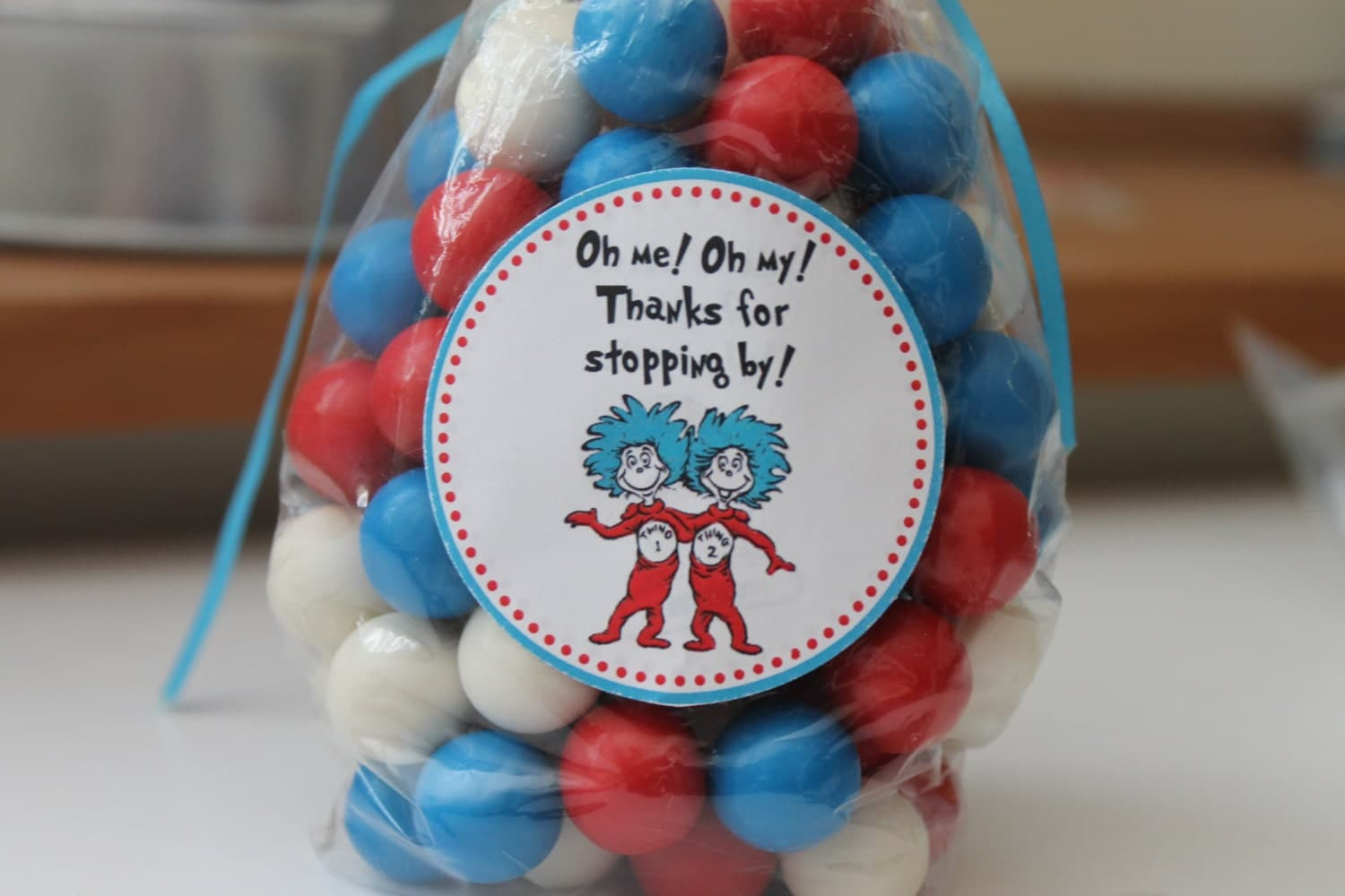 dr seuss thing 1 thing 2 baby shower birthday party stickers
