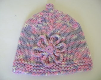 Baby Girl Beanie, Knitted Baby Hat, Hats and Caps, Baby Bonnet, Baby Hat, Baby Beanie, Winter Baby Cap, Winter Baby Beanie, 1 to 5 Months
