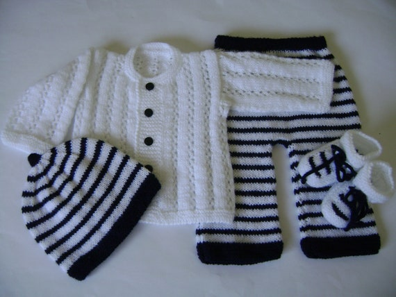 Set Knit  Newborn to 3 Months No Allergenic Yarn