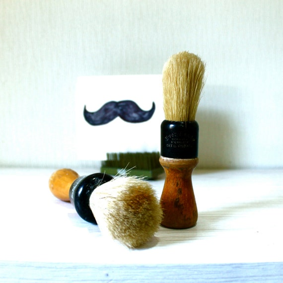 Vintage Shaving Razors with Ever Ready and Barbershop brand bristle brushes