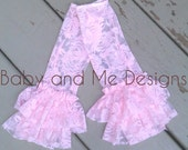 Antique Inspired Lace Legwarmers Double Ruffle to match Lace Rompers