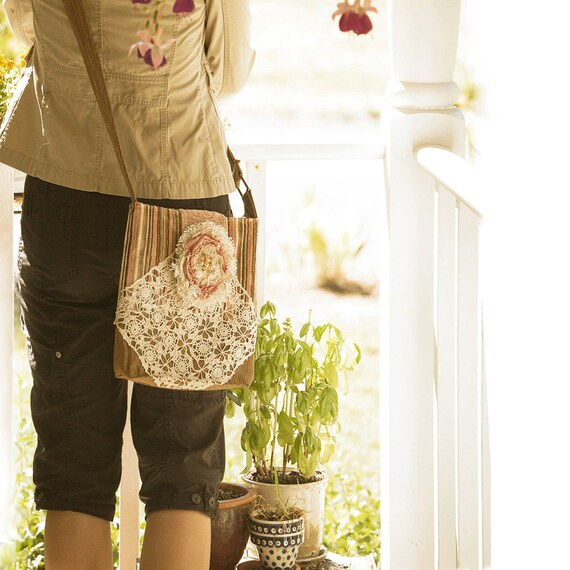 Changed Seasons CrossOver Bag --  spiced brown sugar iPad satchel bookbag shoulderbag courier bag library school college
