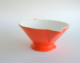 Atomic Art Deco Creamer: Salem Streamline in Mandarin Orange, Available in Condition Grades A, B, or C