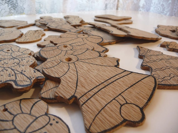 Wood christmas ornaments ready to paint craft supplies collection of