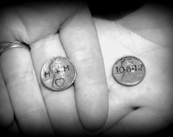 Custom Wedding Pennies - Set of 2 - Featured in Etsy Finds