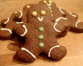 Gourmet Dog Treats - Traditional Gingerbread Man - Organic Dog Treats All Natural Vegetarian - - Shorty's Gourmet Treats