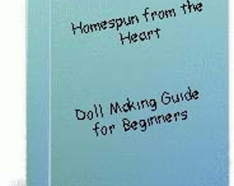 Doll Making Guide for Beginners Tutorial E-book, raggedy cloth doll tutorial, Sewing your own rag doll, HFTH156