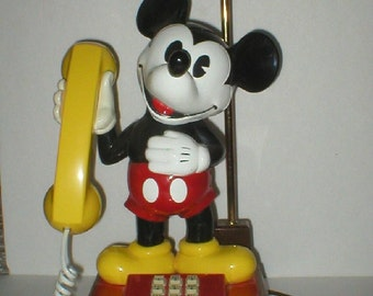 Mickey Mouse Telephone Lamp Combination