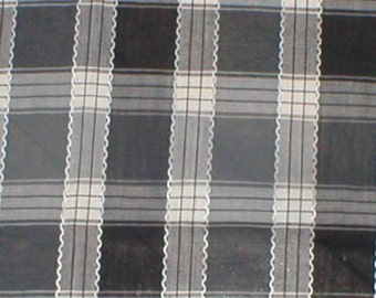 2 Yards 36 Wide VTG 50s Plaid Cotton Print Fabric