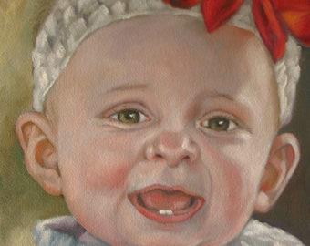 Custom Oil Portrait in oil  8 x 10 and 8 x 8