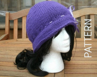 Knitting Pattern - Hand Knit Pattern for Amelie - Womens Hat - Womens Accessories