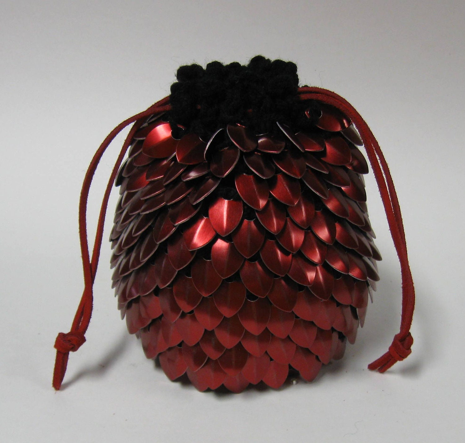 Dragon Scale Dice Bag of Holding Knitted Dragonhide Scalemail