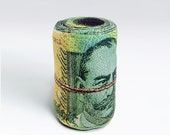 Rolled Banknote Shape Pillow, Australian dollar - Free shipping world-wide