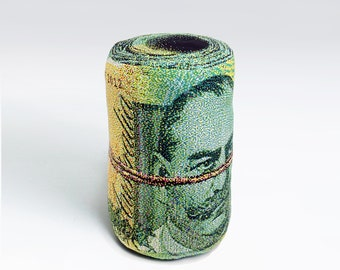 Rolled Banknote Shape Pillow, Australian dollar - Free shipping world-wide