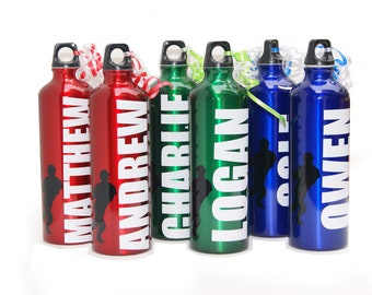 Personalized Aluminum Water Bottle - 25 fl.oz. -Baseball, Basketball, soccer, football, sports theme
