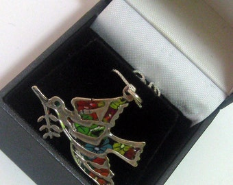 Beautiful 925 Silver Dove of Peace pendant  Chain by Jewelry Designer Orly Kliger