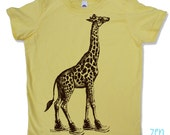 Kids Tee GIRAFFE (in High Tops) Shirt - American Apparel Sizes 2 4 6 8 10 12 (3 Color Options) - FREE Shipping
