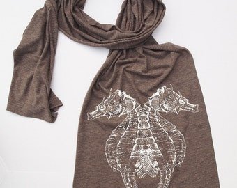 Scarf - SEAHORSE - Tri-Blend american apparel (3 Colors)