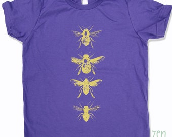 Kids BEES Tee Shirt - American Apparel Sizes 2 4 6 8 10  12 (6 Color Options) - FREE Shipping