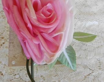 1940's Pink Silk Rose