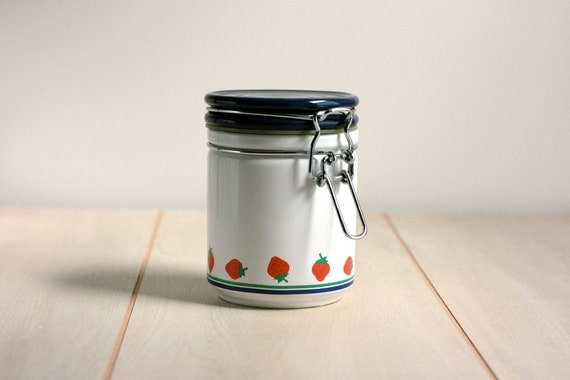Vintage Strawberry Canister