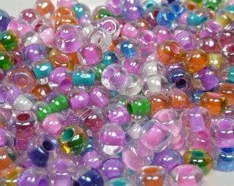 2/0 Mardi Gras Mix Czech Glass Seed Beads 20 Grams (CS79)