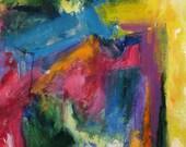 Sidewinder GICLEE ART PRINT 11 x 17 Abstract landscape pink orange yellow