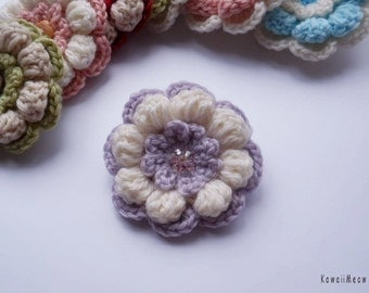 Kawaii Flower Corsage Brooch Purple x White