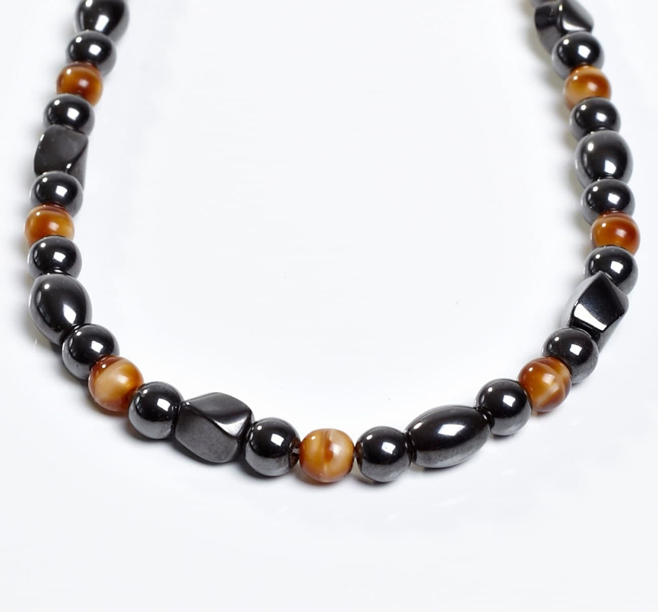 brown and black magnetite necklace shades of magnetic