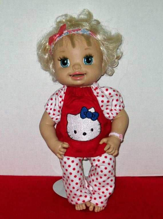 My Baby Alive Hello Kitty Red And White Pajamas Doll Clothes