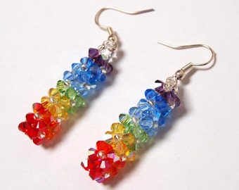 Swarovski Earrings Rainbow Fullcolors