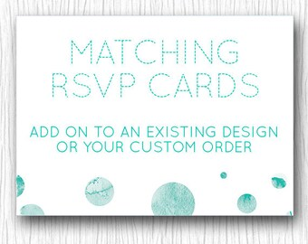 Custom RSVP Cards - Printable Wedding Stationary 4x6