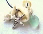 Seashells Sea Glass Beach Wedding Necklace