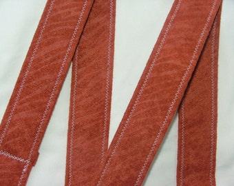 D Ring Belt, soft orange animal pattern, S/M