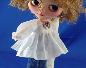 "For Blythe ""Shabby Chic Lace Jeans and Angel Top"" Adorable Chris"