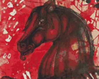 Modern Cross Stitch Kit by Lynnette Shelley 'War Horse' Counted Cross Stitch