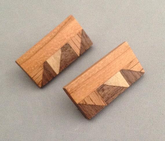 Geometric post  earrings 2
