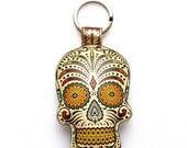 Special Edition Sugar Skull / Day of the Dead / Dia de Muertos Keychain / Keyring / Bag Charm