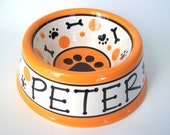 Feed your Dog in Style - PERSONALIZED Custom Dog Bowl - Paws N' Bones MEDIUM