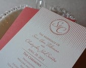 Wedding ceremony programs in tea length format, set of 50