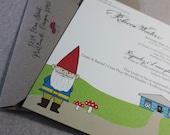 Garden Gnome Eco Friendly Bridal Shower Invitations, The Rebecca, Set of 35