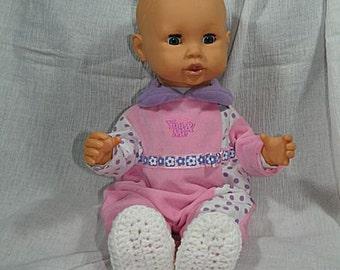 323 - White Baby Slippers